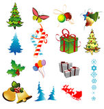 Christmas vector objects Stock Image