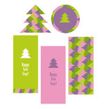 Christmas vector pattern with trees. Royalty Free Stock Photos