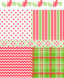 Christmas Vector Patterns Stock Photo