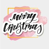 Christmas Vector Phrase Lettering Calligraphy Brush Watercolor stock illustration