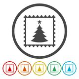Christmas Vector post stamps on white background vector illustration