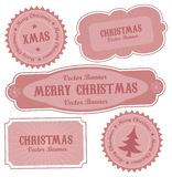 Christmas Vector Retro Design Labels Royalty Free Stock Image