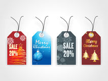 Christmas vector sale tag Royalty Free Stock Image