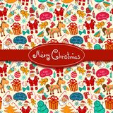 Christmas vector seamless pattern Royalty Free Stock Image