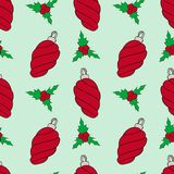 Christmas vector seamless pattern. Perfect for wrapping paper, scrapbook paper vector illustration