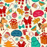 Christmas vector seamless pattern Stock Images