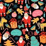 Christmas vector seamless pattern Stock Image