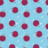 Christmas vector seamless pattern. Perfect for wrapping paper, scrapbook paper stock illustration