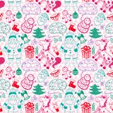 Christmas vector seamless pattern Royalty Free Stock Photography