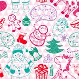 Christmas vector seamless pattern Stock Photography