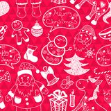 Christmas vector seamless pattern Stock Photo