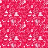 Christmas vector seamless pattern Stock Photo