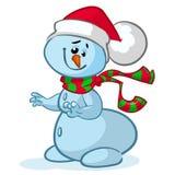 Christmas vector snowman Royalty Free Stock Photography
