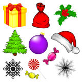 Christmas vector symbol set, icon  design. Stock Photo