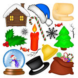 Christmas vector symbol set, icon  design. Winter illustration  on white background. Royalty Free Stock Photography