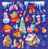 Christmas vector symbol set Stock Photos