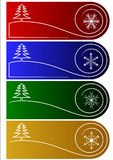 Christmas vector tags or greetings Stock Photography