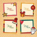 Christmas vector template frame Stock Image