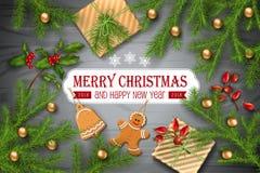 Christmas Vector Background Stock Photo