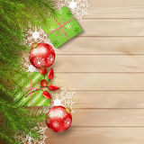 Christmas Vector Top View Background Stock Image