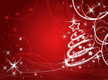 Christmas vector tree Royalty Free Stock Photos