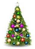 Christmas vector  tree against white background Royalty Free Stock Image