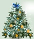 Christmas vector  tree Royalty Free Stock Photos