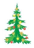 Christmas vector tree with decorations Royalty Free Stock Photography