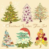 Christmas vector tree set for design Stock Photo