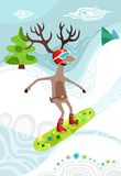 Christmas. Vector christmas winter colorful illustration Royalty Free Stock Photography