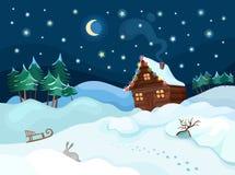 Christmas. Vector christmas winter colorful illustration Royalty Free Stock Photo