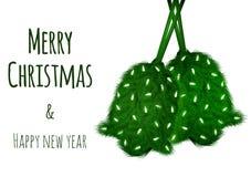 Christmas vector wish card Stock Photo