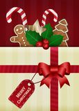 Christmas vector wish card Royalty Free Stock Images