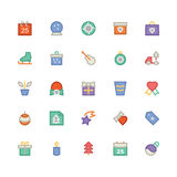 Christmas Vectors Icons 5 Stock Photography