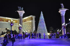 Christmas at The Venetian Resort Hotel Casino in Las Vegas Stock Photos