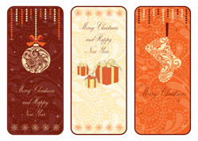 Christmas vertical banner. Vector illustration eps Royalty Free Stock Images