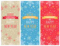 Christmas Vertical Banners - Illustration. Royalty Free Stock Images