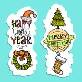 Christmas vertical banners Royalty Free Stock Photos