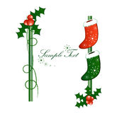 Christmas vertical border Stock Photo