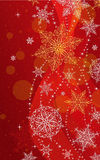Christmas Vertical Greeting Card - Illustration. Christmas Red-No Text  Vertical. Royalty Free Stock Images