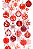 Christmas Vertical Seamless Border With Balls Stock Image