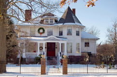 Christmas Victorian House Stock Image