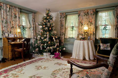 Victorian Christmas Living Room Decorations Stock Image
