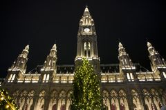 Christmas in Vienna. Traditional christmas in Vienna, Austria royalty free stock photo