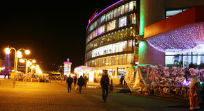 Christmas view of shopping center in Nizhny Novgorod Royalty Free Stock Images