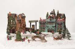 Christmas Village Stock Images