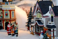 Christmas village Stock Photos