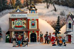 Christmas village Royalty Free Stock Image