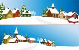Christmas village Stock Image