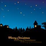 Christmas village in night Stock Photo
